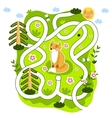 Maze Logic Game for Kids vector image