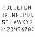 simple black alphabet in the style of the postal vector image