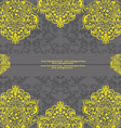 Yellow and Gray Damask Wedding Invitation vector image vector image