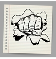 a strong fist symbol vector image vector image