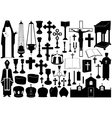 Set of religious elements vector image
