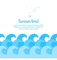 Sea waves background vector image vector image
