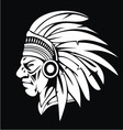 White Indian Head vector image