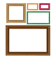 Wooden colored vintage frames vector image