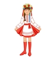 Cute girl in ukrainian traditional clothes vector image vector image