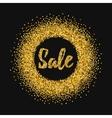 Gold glitter sale background vector image vector image