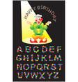 KONFETTI letters alphabet vector image vector image