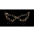 Carnival golden mask isolated on black background vector image