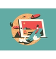 Freelance concept flat style vector image