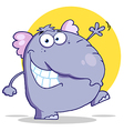 Funny Elephant Walking And Waving vector image