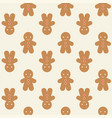 ginger bread man background for christmas vector image