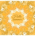 Hello summer typographic poster vector image