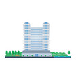hotel room reservation exterior interior vector image