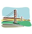 San Francisco Golden Gate vector image