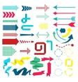 Set of web elements in modern material design vector image