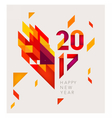New Year 2017 Geometric abstract background vector image vector image
