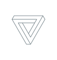 penrose triangle vector image vector image