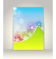 Business brochure template flower colorful design vector image vector image