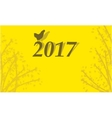 Happy Chinese New Year 2017 backgrounds vector image