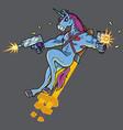 unicorn killer vector image