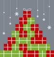 Gift box design for christmas and new year vector image vector image
