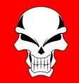red skull vector image