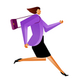 Side view of businesswoman vector image