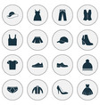 dress icons set collection of heel footwear vector image