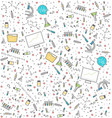 science medical seamless pattern vector image