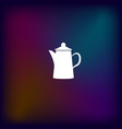 teapot kettle on isolated vector image