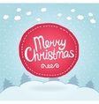 Christmas card Holiday background with badge vector image