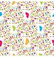Colorful butterflies and spots seamless pattern vector image