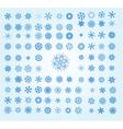 retro snowflakes vector image vector image