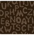 Seamless tribal pattern with zentangle letters vector image