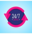 24 hours service badge vector image vector image