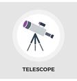 Telescope icon flat vector image vector image