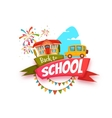 Back to school cartoon poster vector image