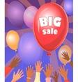 Big sale retro poster vector image