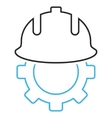 Development Helmet Outline Icon vector image