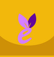 e letter eco logo safe leaf icon vector image