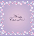 merry christmas card invitation lights decoration vector image