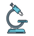 microscope medical isolated icon vector image