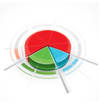 pie-chart graph vector image
