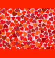 valentines day seamless pattern with hearts vector image