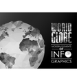 world globe triangular map of the earth vector image