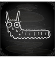 Worm Drawing on Chalk Board vector image