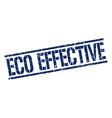 eco effective stamp vector image