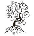 doodle style swirl tree vector image