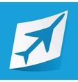 Plane sticker vector image vector image
