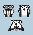 3 wise monkey vector image